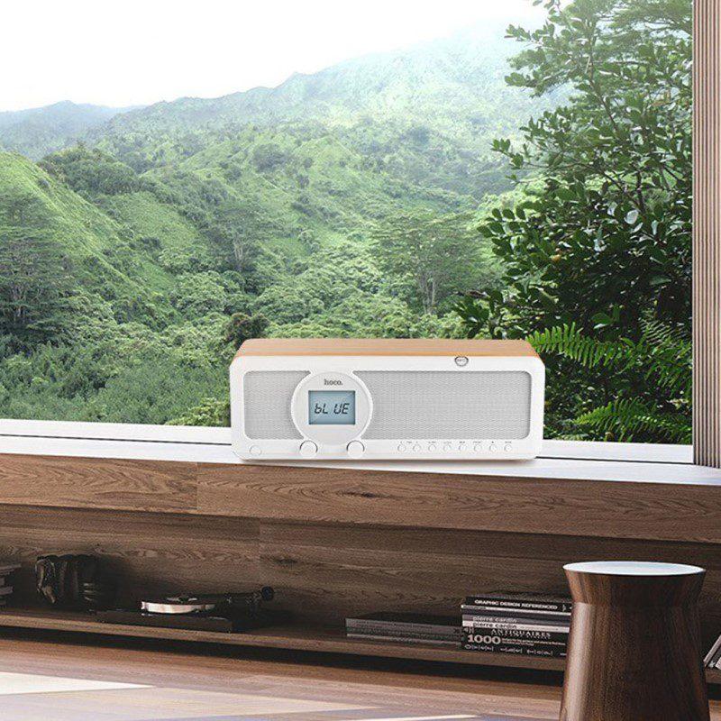 bs12 earl wooden tabletop wireless speaker balcony