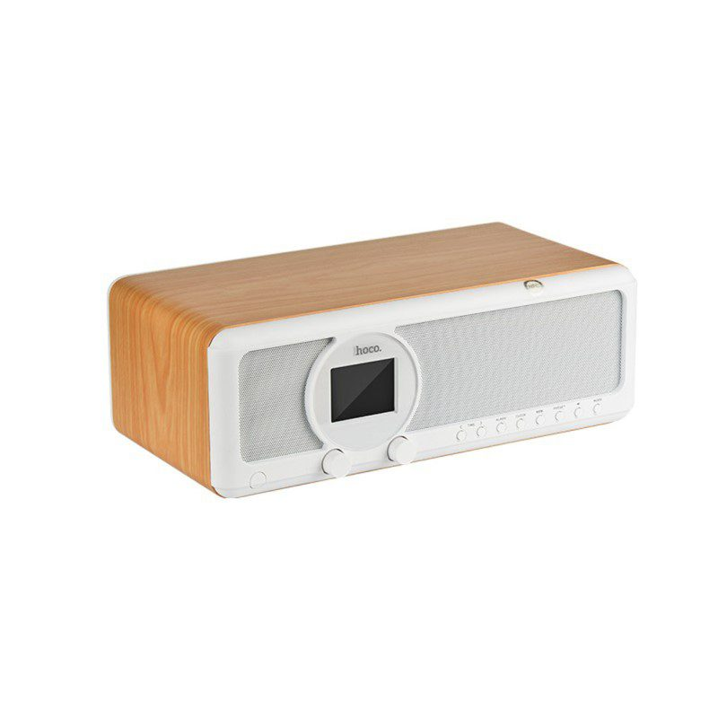 bs12 earl wooden tabletop wireless speaker side