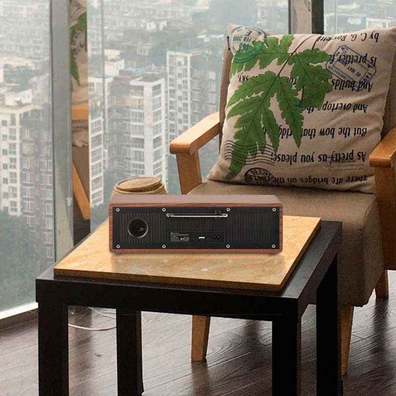 bs13 cobalt wooden tabletop wireless speaker city