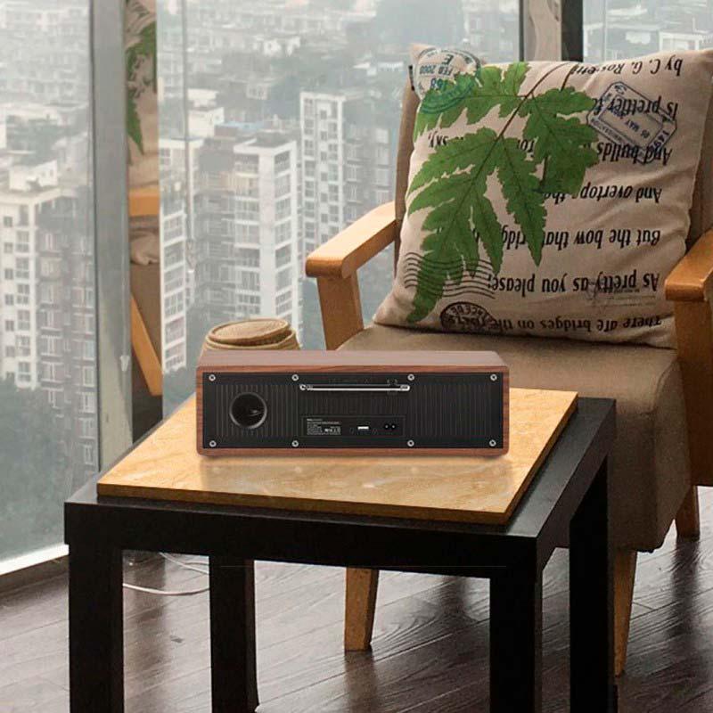 bs13 cobalt wooden tabletop wireless speaker city