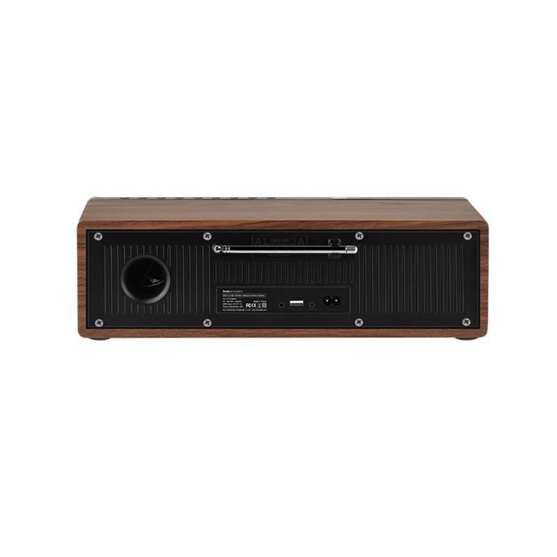 bs13 cobalt wooden tabletop wireless speaker front
