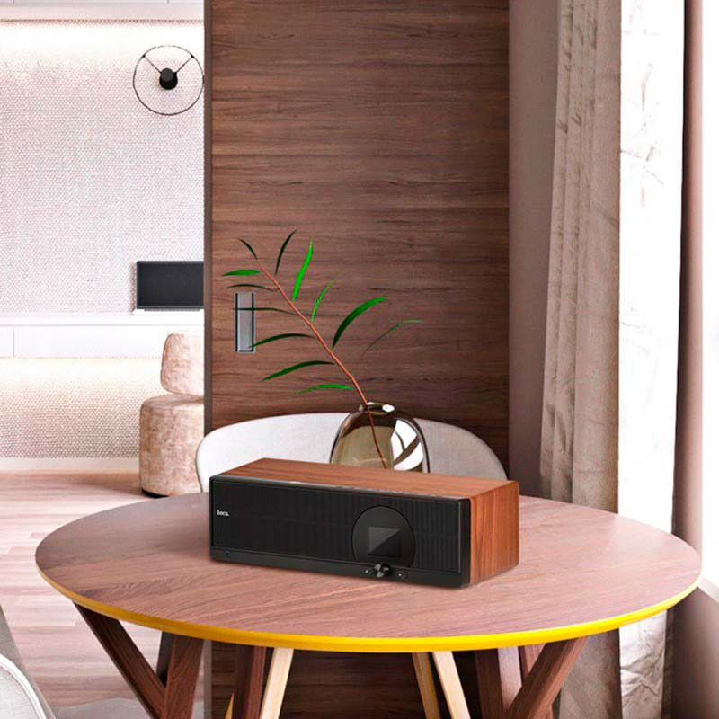 bs13 cobalt wooden tabletop wireless speaker interior