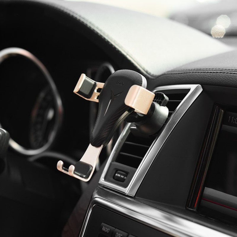 ca29 air outlet gravity car holder in car without phone gold