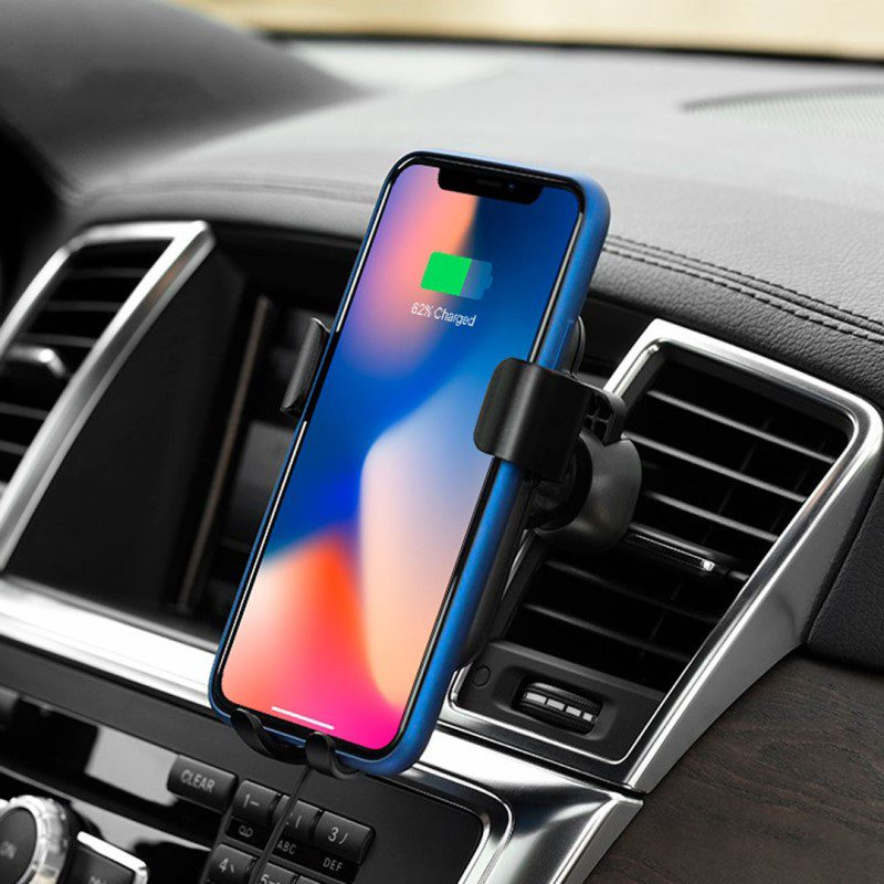 cw delightful car wireless rapid charger interior