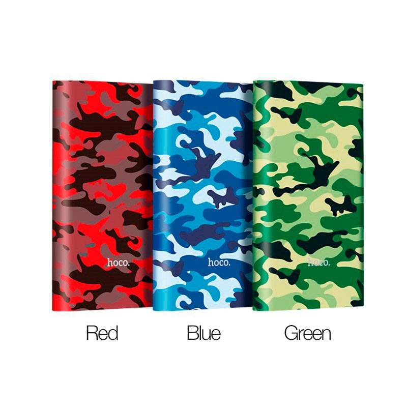 j9 camouflage series power bank 10000 mah colors