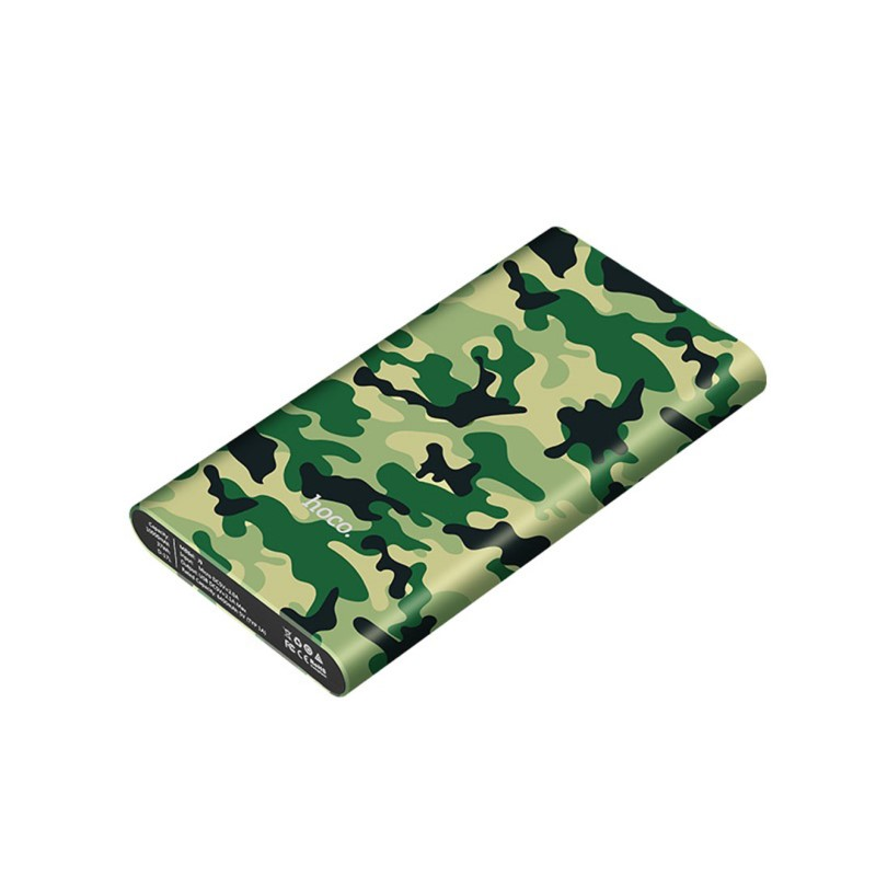 j9 camouflage series power bank 10000 mah front