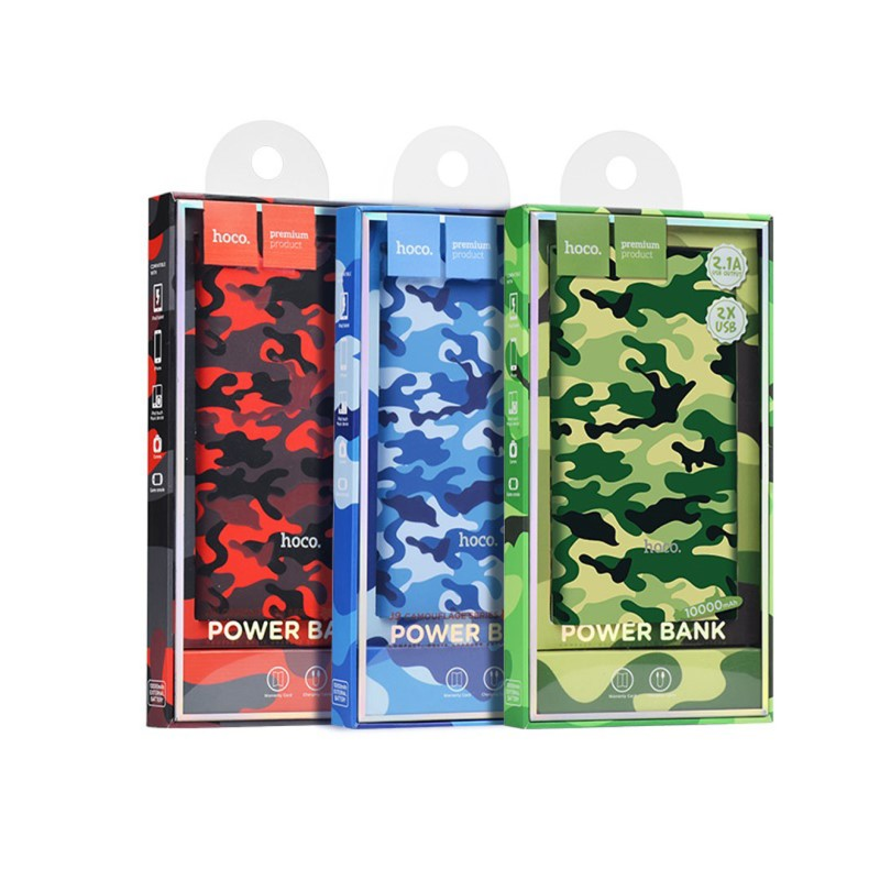 j9 camouflage series power bank 10000 mah packaging