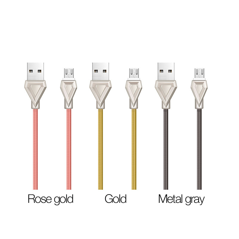 u25 golden armor charging cable micro usb color
