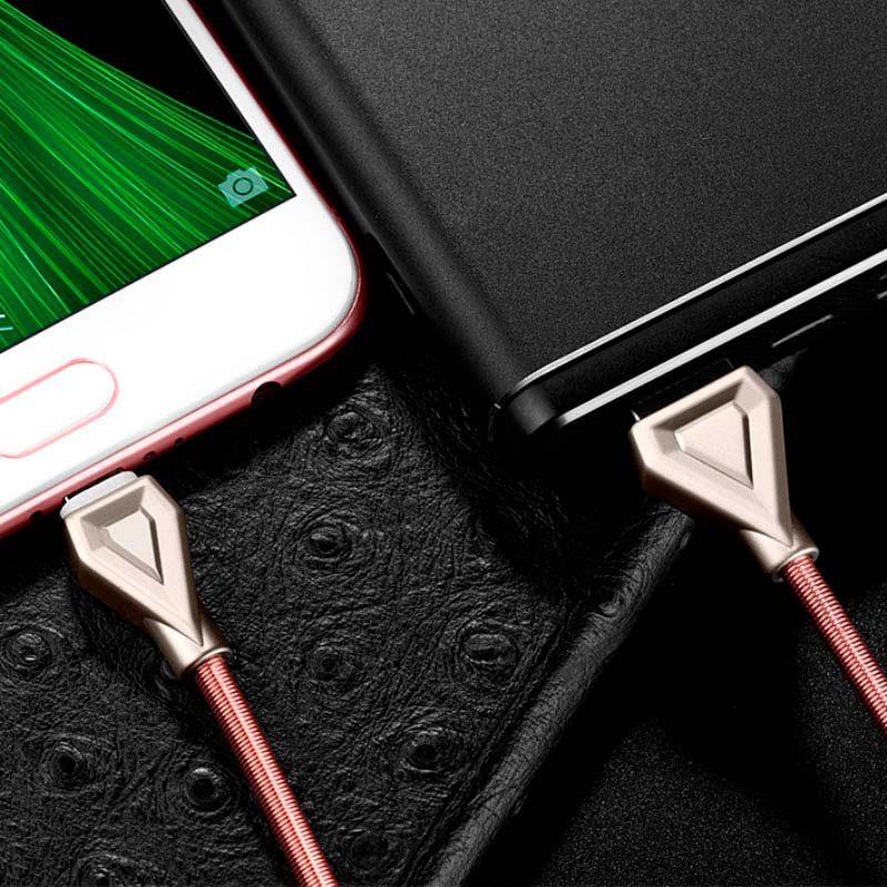 u25 golden armor charging cable micro usb interior