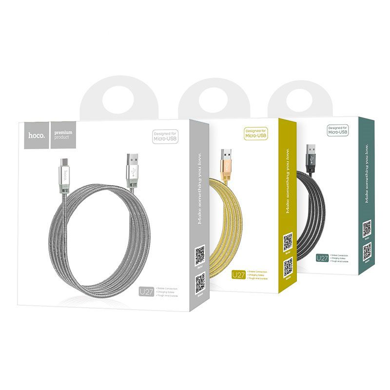 u27 golden shield micro usb charging data cable package