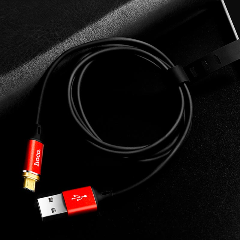 u28 magnetic micro usb charging cable reversible plug folded