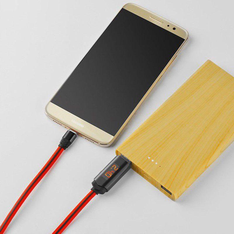 u led displayed timing type c charging cable powerbank