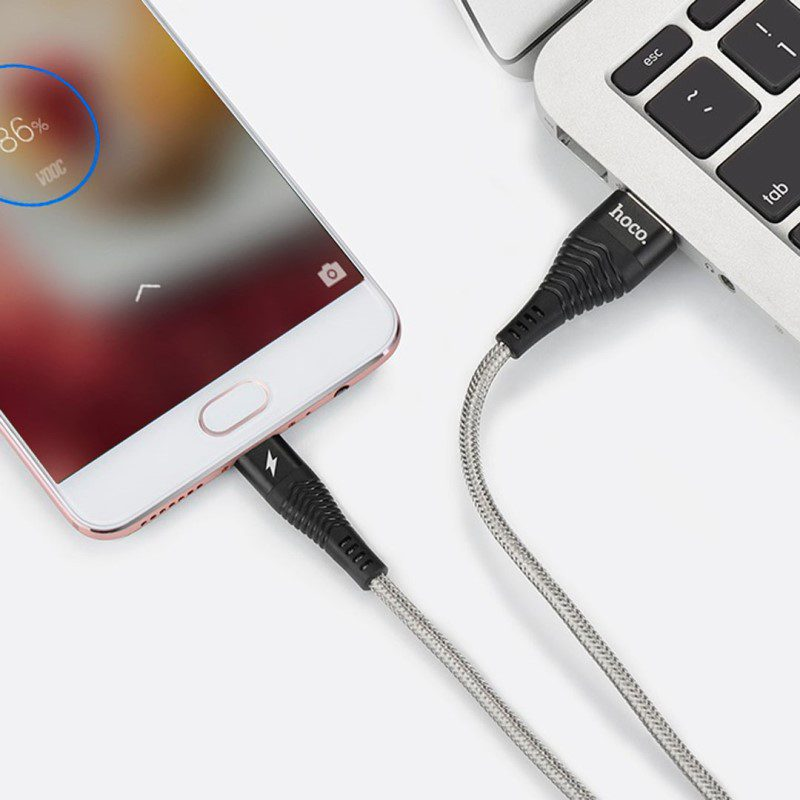 u unswerving steel braided micro usb charging cable phone