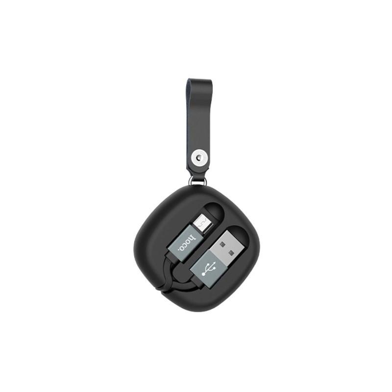 u33 retractable micro usb charging cable back