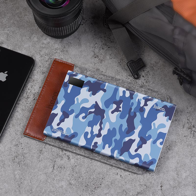 b33a 20000 camouflage power bank 20000 mah blue case