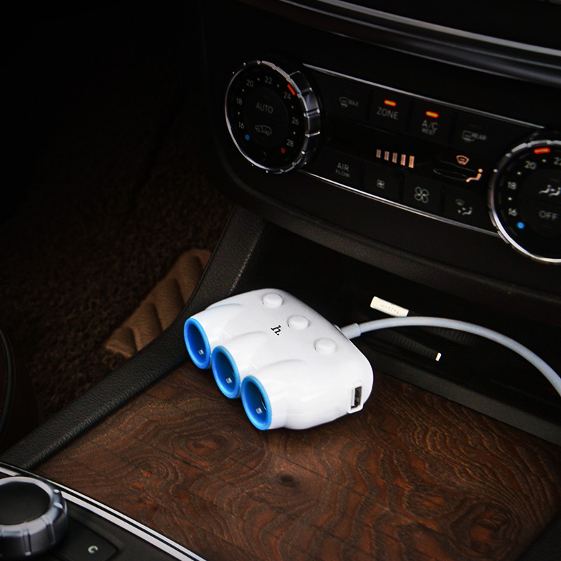c1 3 in 1car charger white interior