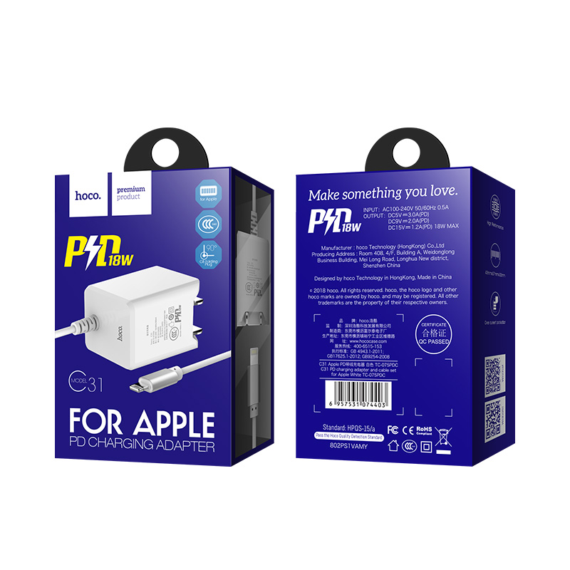 c31 pd charging adapter cable adapter apple package