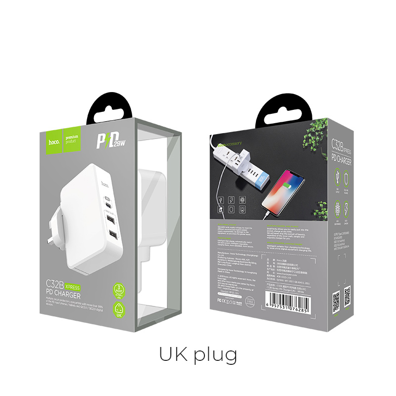 c32a xpress pd charger uk box