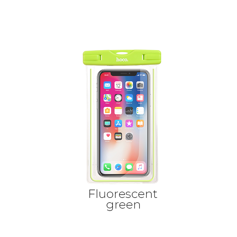 clear fantasy wp bag fluorescent green