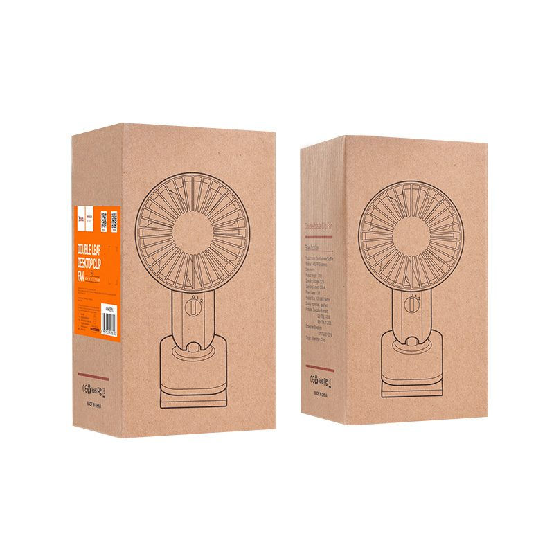 f9 double leaf desktop clip fan box