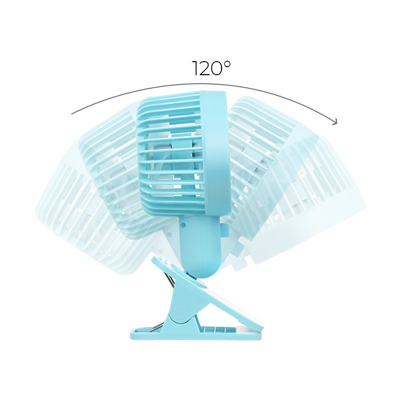 f9 double leaf desktop clip fan rotation