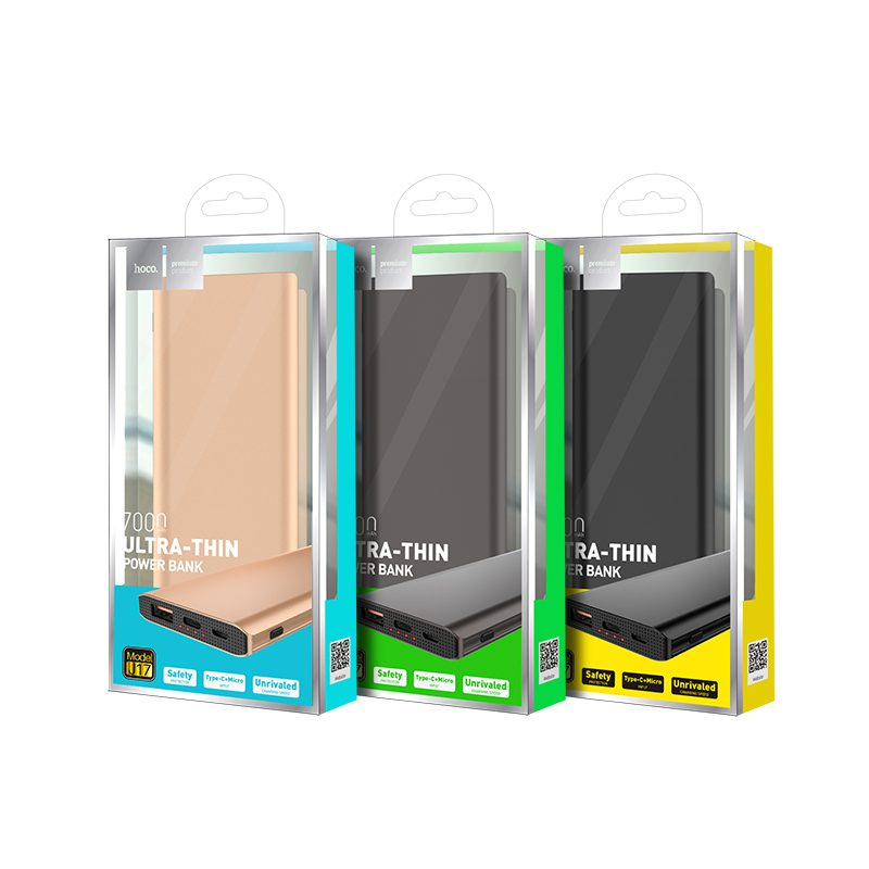 j17 clear mobile power bank packaging