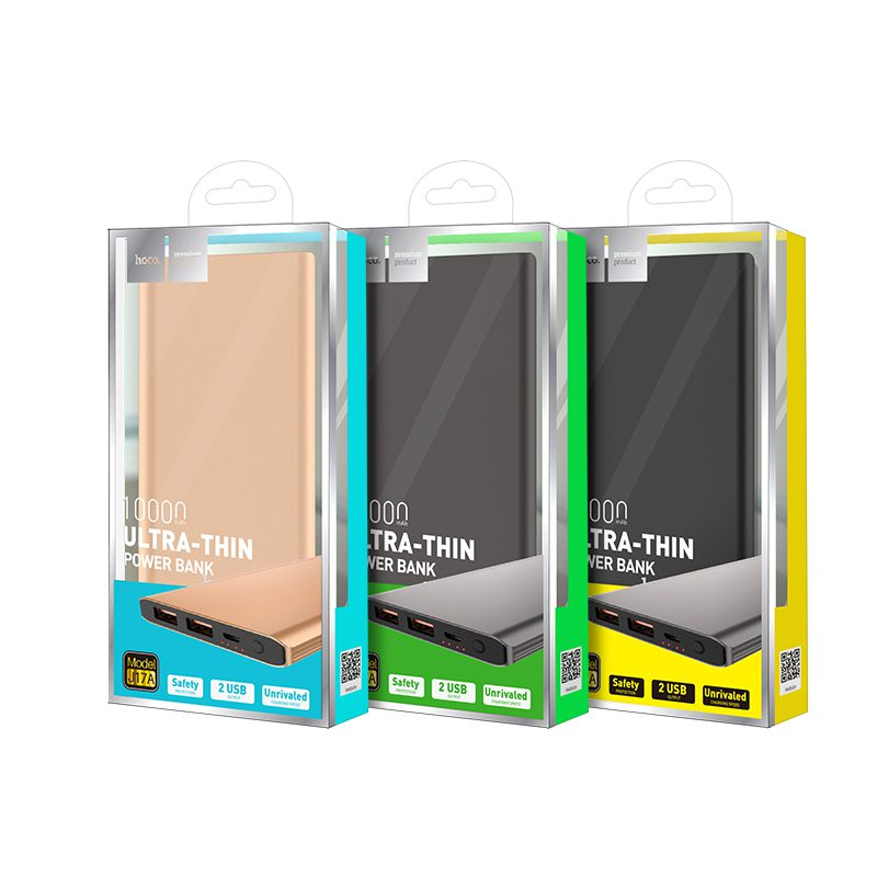 j17a clear mobile power bank packaging