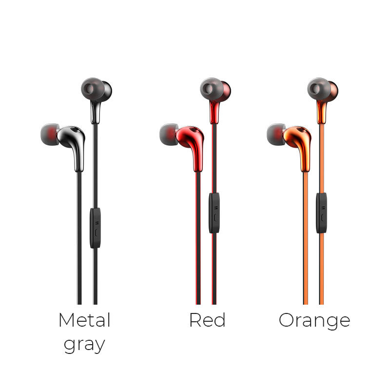 m30 glaring universal earphones with microphone color