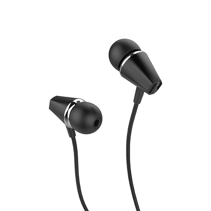 m34 honor music universal earphones with microphone side black