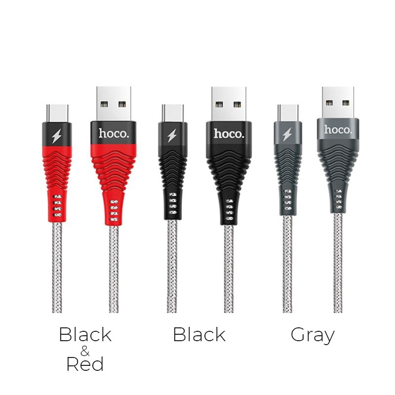 u32 unswerving steel braided usb type c charging cable colors