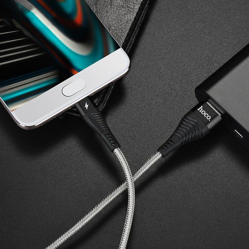 u32 unswerving steel braided usb type c charging cable interior