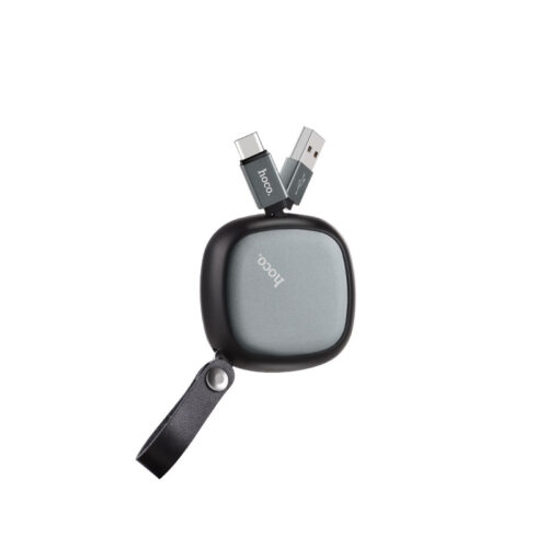 u33 retractable type c charging cable side