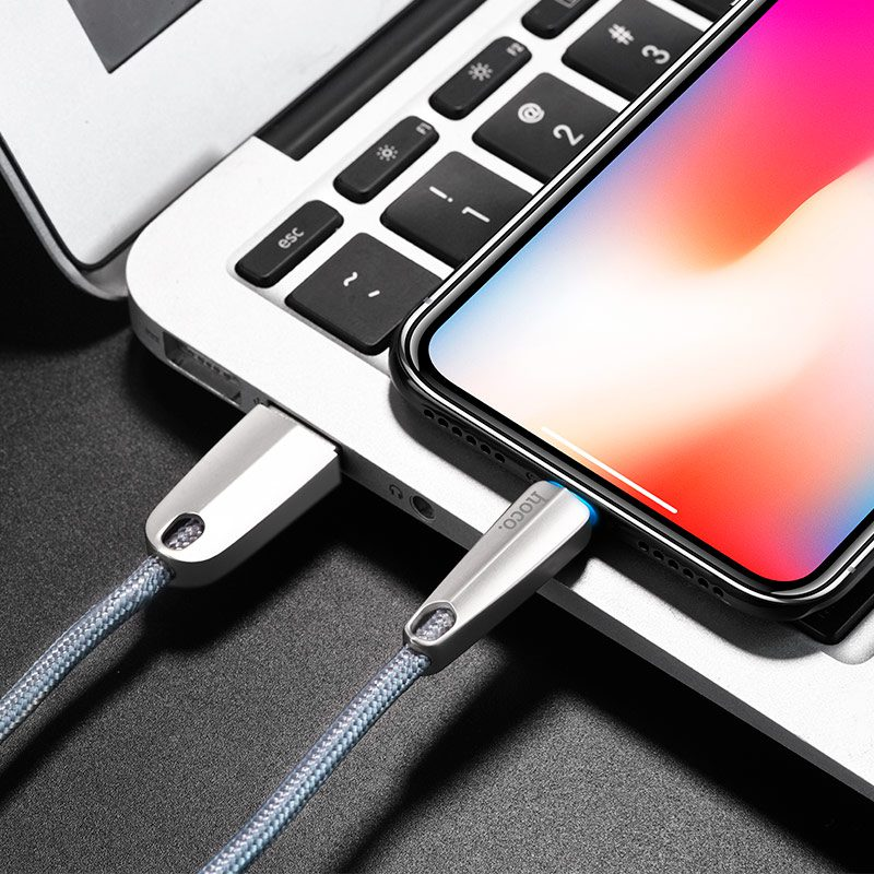 u35 space shuttle smart power off lightning charging data cable notebook