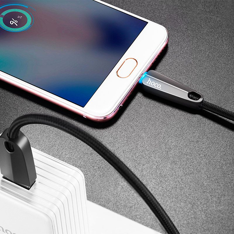 u35 space shuttle smart power off micro charging data cable interior
