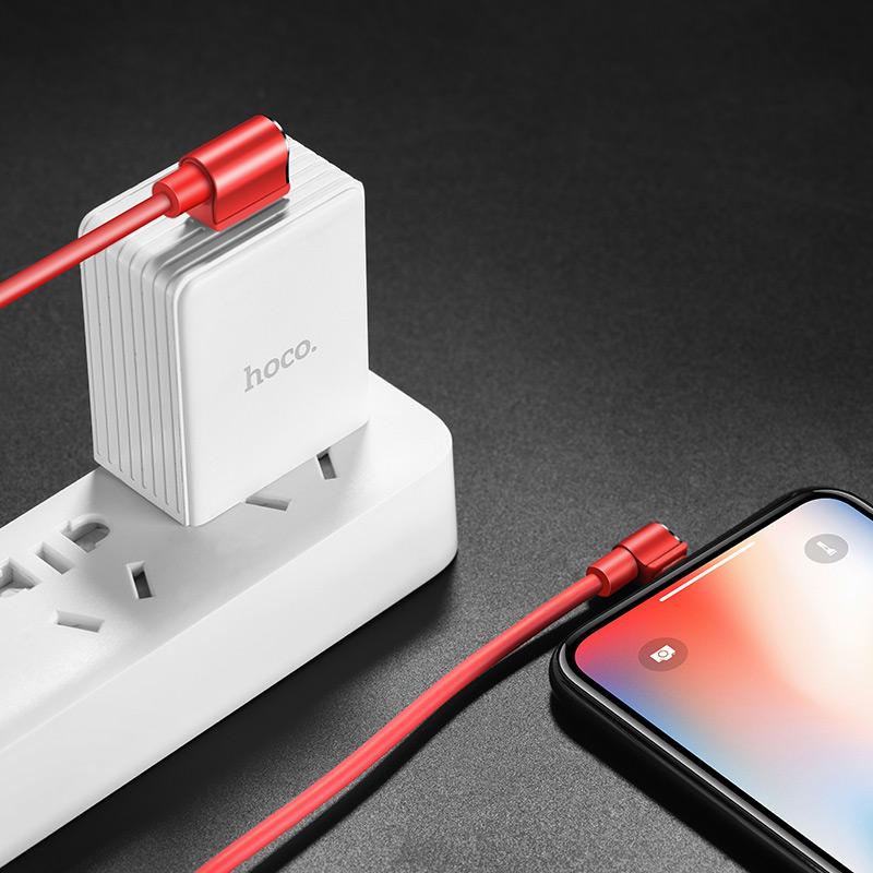 u37 long roam lightning charging data cable interior