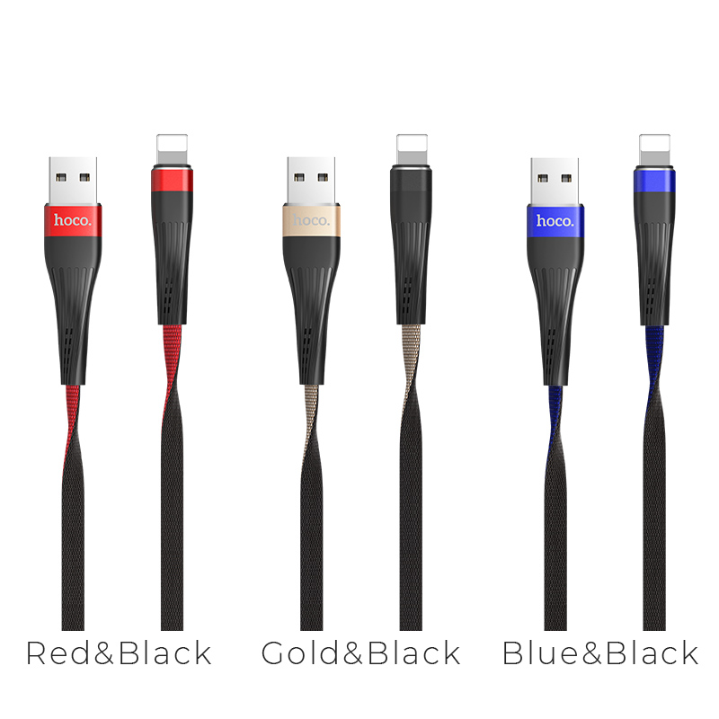 u39 slender lightning charging data cable colors