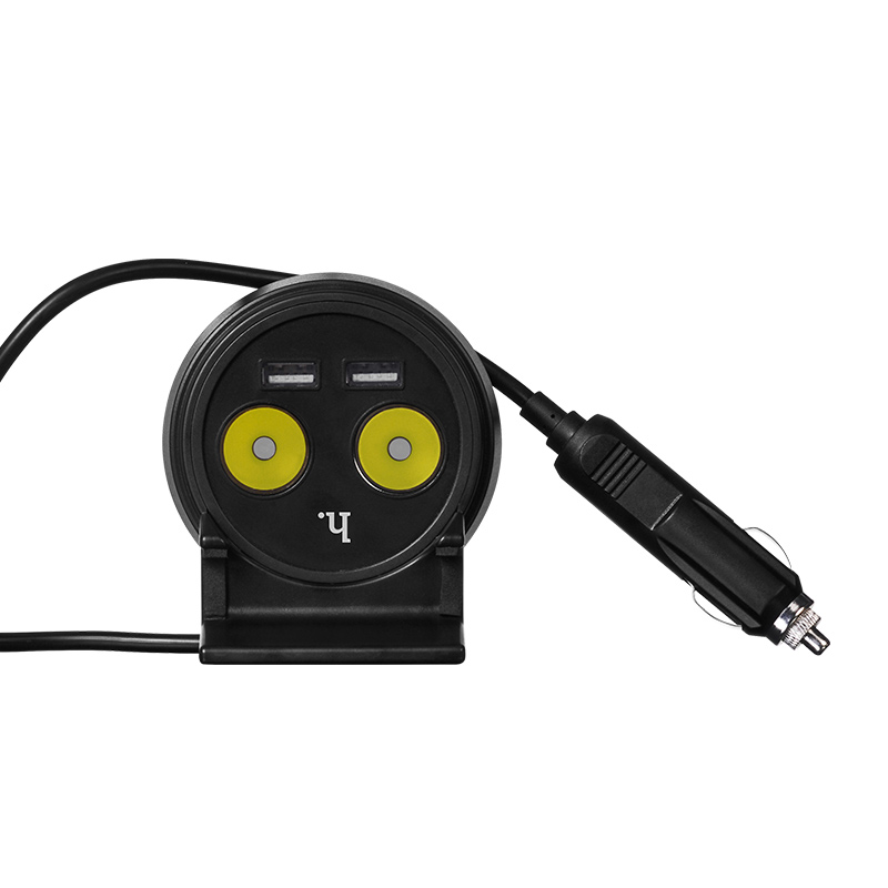 uc207 dual usb cup shape car charger back