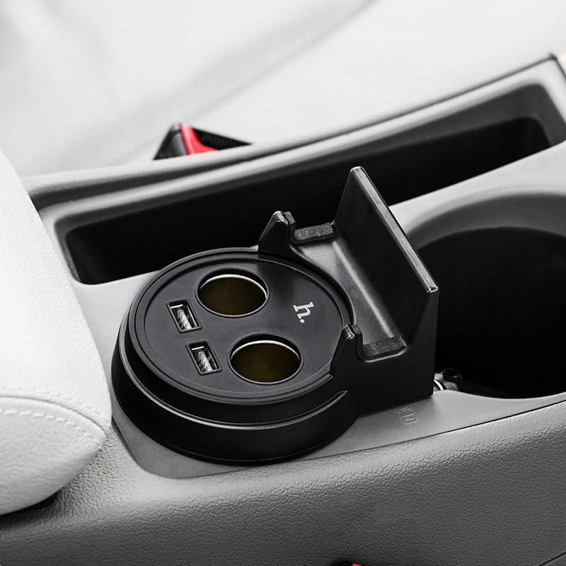 uc207 dual usb cup shape car charger interior