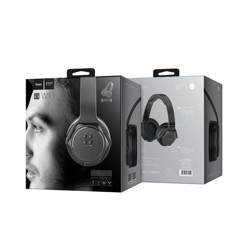w11 listen nfc wireless headphones package