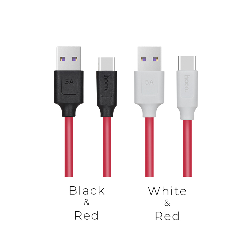 x11 type c 5a rapid charging cable colors