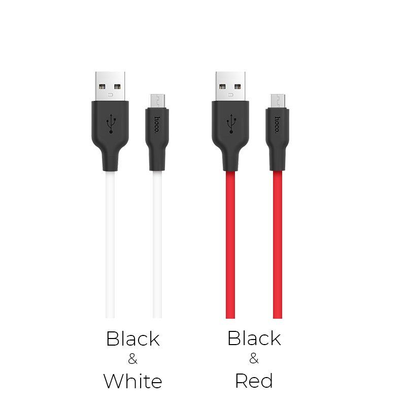 x21 silicone micro charging cable colors