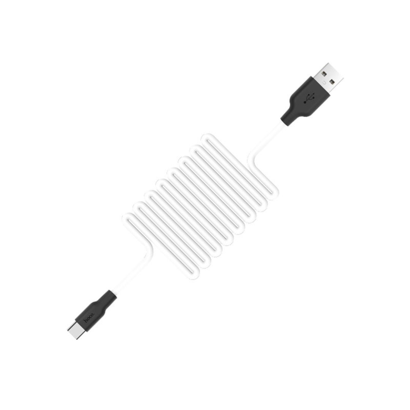 x21 silicone type c charging cable white spring