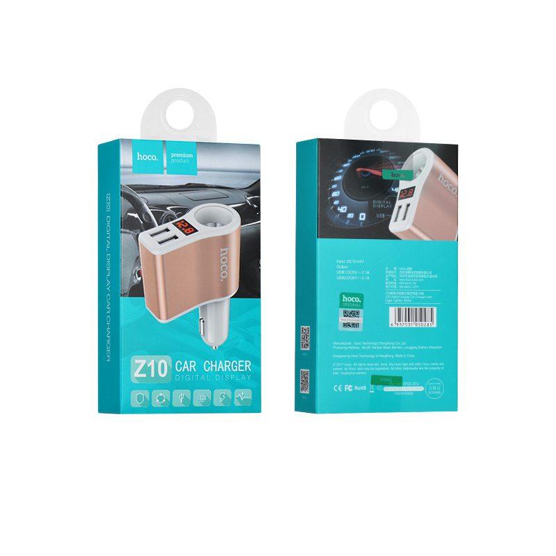 z10 in lighter slot car charger digital display package
