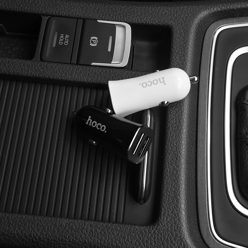 z12 elite dual usb car charger interior
