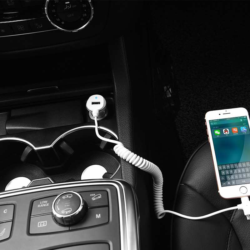 z14 single usb with cable car charger interior