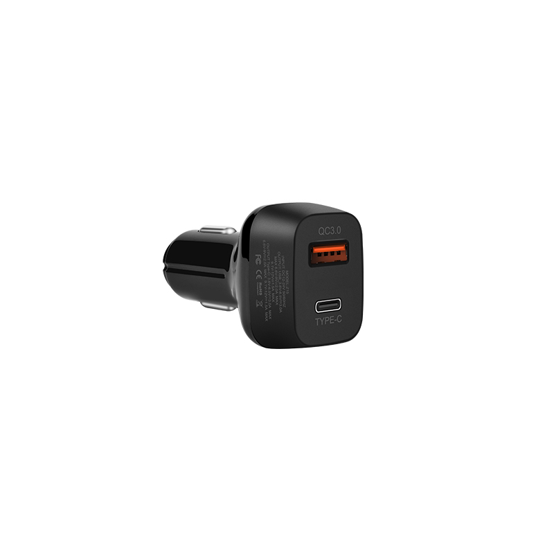 z15 kuso qc3.0 type c usb car charger back