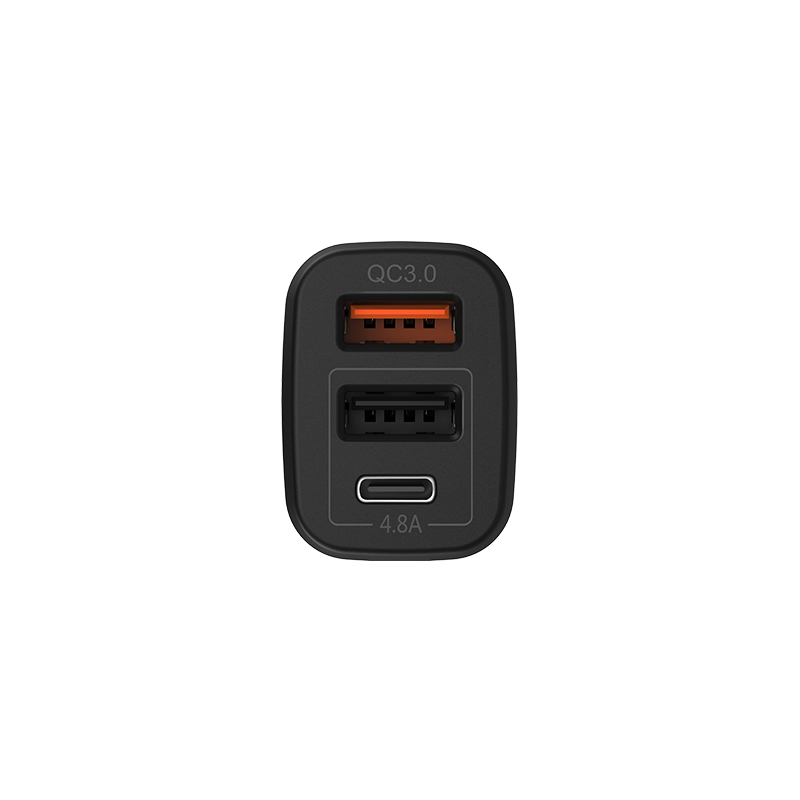 z15a kuso qc3.0 type c two usb car charger ports