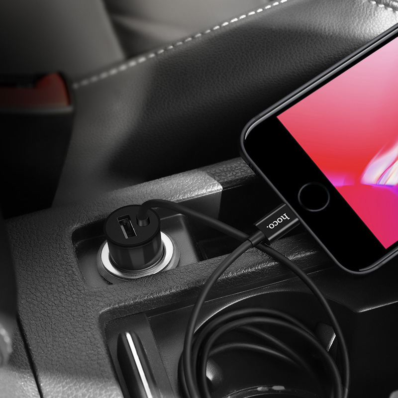 z17 sure single port wired car charger interior
