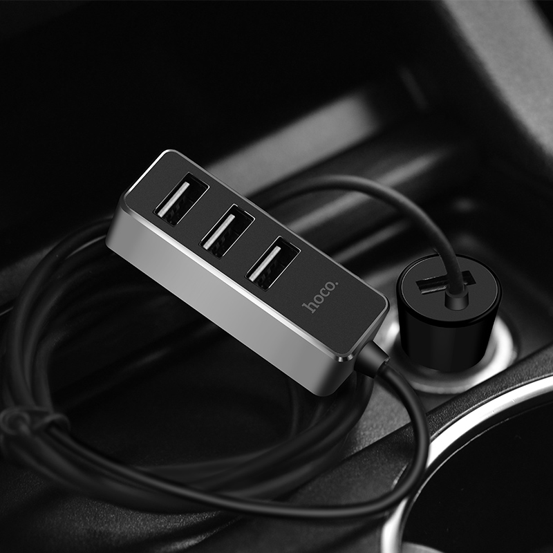 z17b sure four ports car charger with extender in car