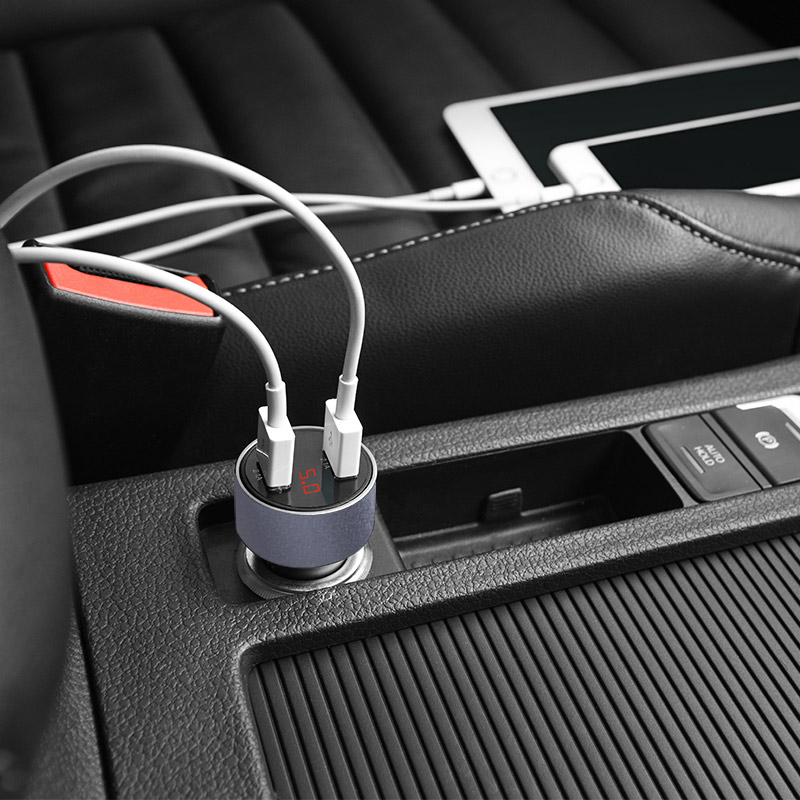 z9 kingkong digital display car charger interior